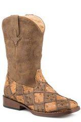 Roper Tan/Brown Ostrich Boots