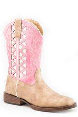 Roper Pink/Beige Underlay Boots