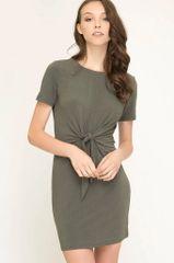 Olive Knot Dress