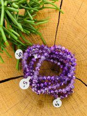 Purple Shimmer Stretch Bracelet