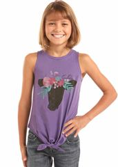 Floral Cow Tank