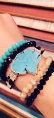 Turquoise Chunk Magnetic Bracelet