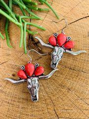 Red Meechum Earrings