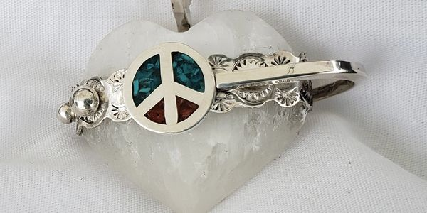 Sterling Silver peace signs
