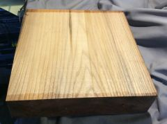 Olive Ash Bowl Blank square 12 x 12 x 3 inches