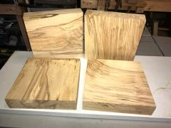 Spalted Sycamore bowl blank squares. 7 3/4'' x 7 3/4'' x 1 3/4''