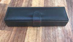 Large faux leather pen box