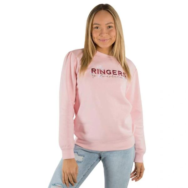 RINGERS WESTERN Bloome Womens Crew Neck Sweat - Dusty Pink