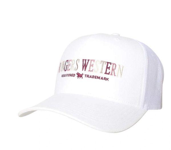 Ringers Western Bells Trucker Cap White with multi coloured Logo