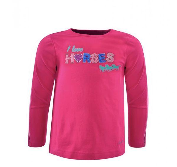 Thomas Cook Kids L/S I love horses top Deep Pink