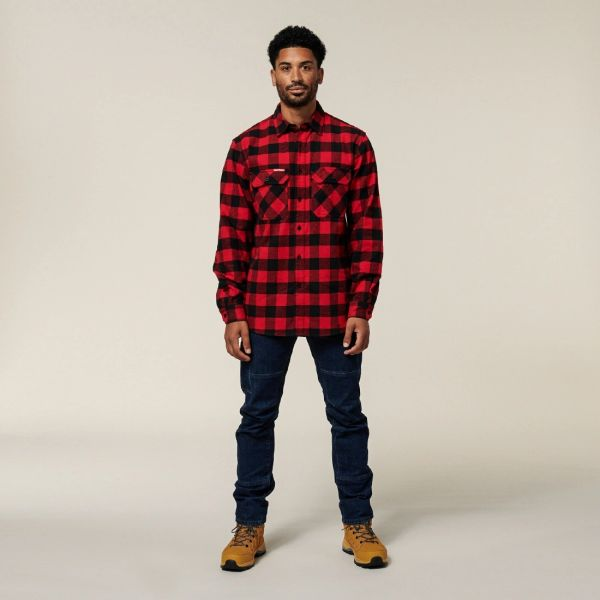 Hard Yakka - Foundations Check Flannel Long sleeve Shirt