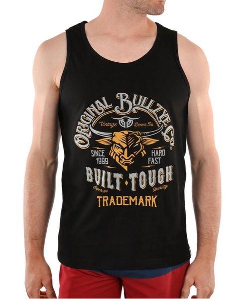 Bullzeye Mens Built Tough Singlet Black