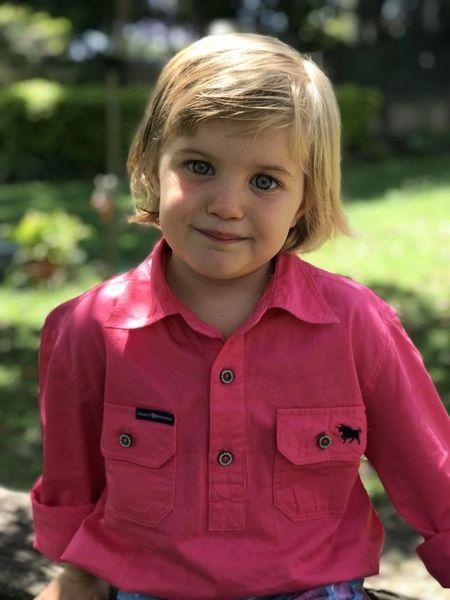 Ringers Western Ord River Half Button Kids Wear Shirt Melon
