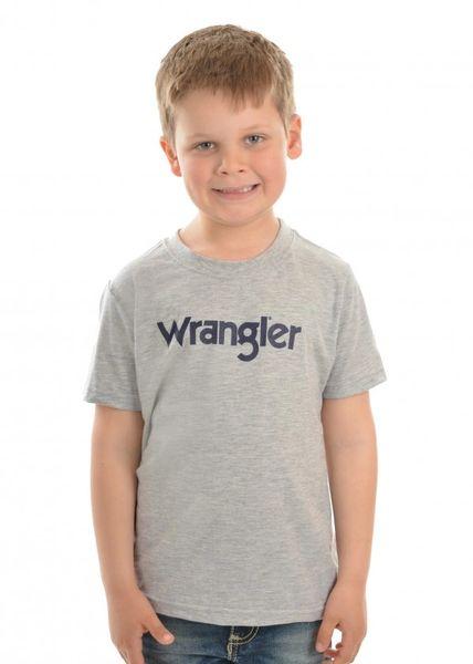 Wrangler Boys Logo S/S Tee Grey Marle