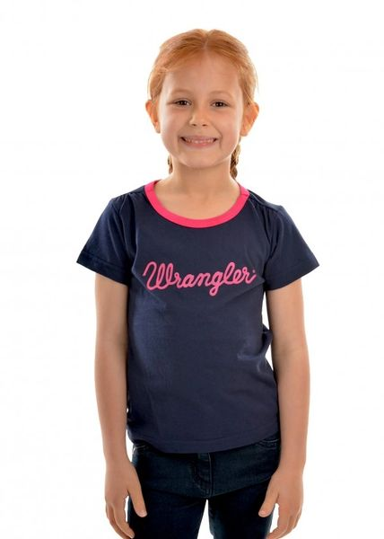 Wrangler Girls S/S Tee Navy/Pink