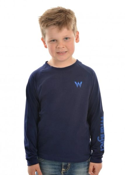 Wrangler Boys L/S Logo Tee