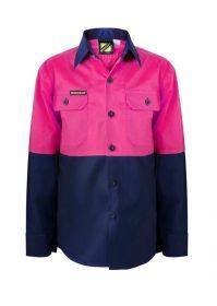 WorkCraft Girls Shirt Pink/Navy