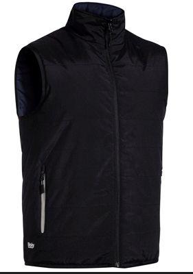 Bisley Reversible Puffer Vest Black/Navy