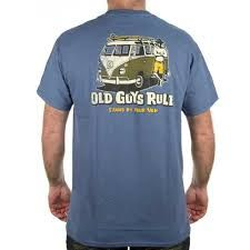 Old Guys Rule Stand By Your Van Indigo Tee