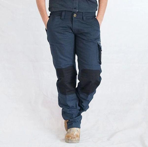 Eve Workwear Ladies Strong Heavy Duty Pants Black On Navy