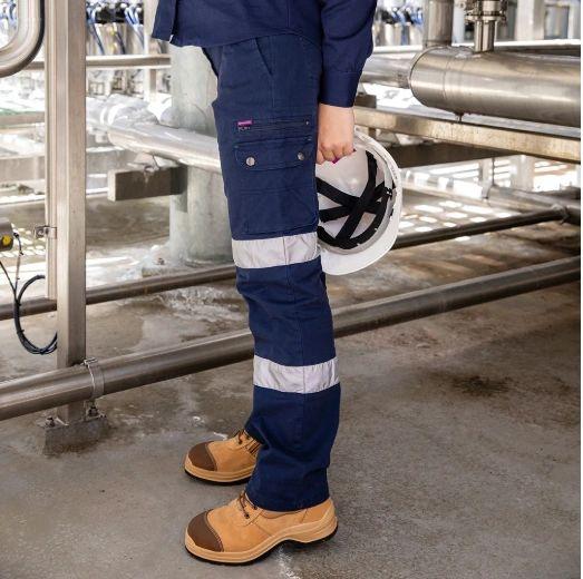 GreenHip Ladies Cargo Reflective - Long pants Navy Blue