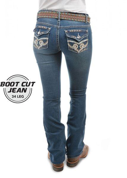 Pure Western Brandy Ladies Bootcut Jean