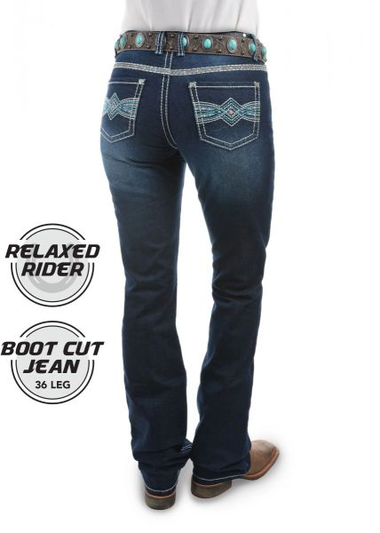 PURE WESTERN WOMENS INDIANA RELAXED RIDER JEAN - 36 LEG