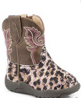 Roper Cowbaby Glitter Leopard Boots