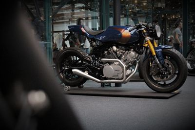 ASE Custom motorcycles' build - Alpha- at the bsmc show in London Tobacco Dock 2019