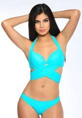 G2023 - Bikini - Cross Wrap Halter - Cool Turquoise