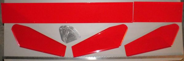 "Rapid Ron's Racing 8"" Dirt Late Model Spoiler Powder Coated to your color (Red Shown)"