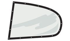 """Five Star Molded Quarter Window w/ Black-Out Border -.093"""" Mar-Resistant - Pre-Cut to Fit - Left (Only) - Fits Straight-up Chevrolet SS, Monte Carlo and Impala Bodies"""