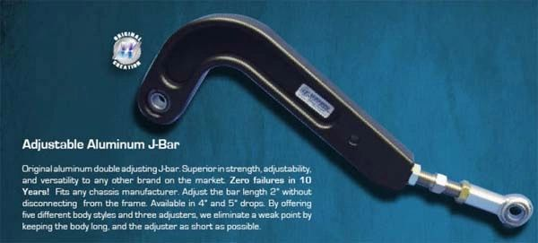 Wehrs Machine Adjustment Aluminum J-Bar 18In-20In