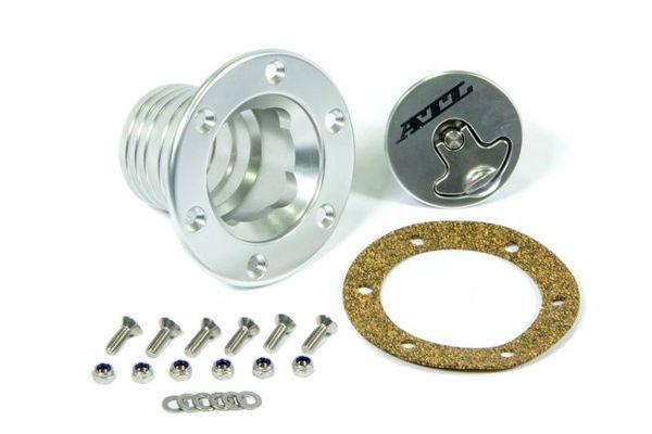 """ATL Aluminum Remote Fill Cap Assembly - 2"""" or 2-1/4"""" I.D. Hose"""