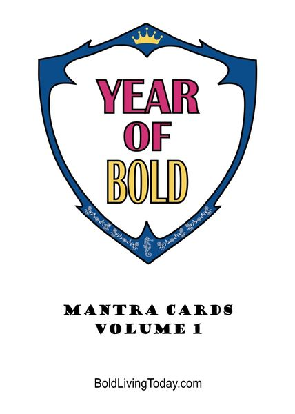 Year of Bold - Mantra Cards, Volume 1 + Journal