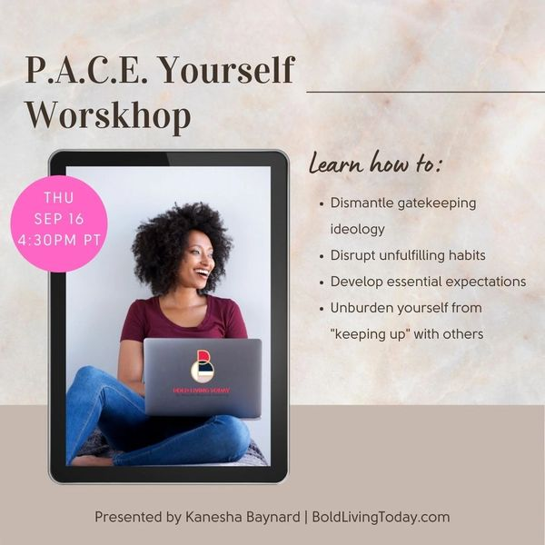 P.A.C.E. Yourself Workshop