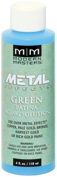 MODERN MASTERS GREEN PATINA AGING SOLUTION 4OZ PA90104