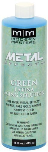 MODERN MASTERS GREEN PATINA AGING SOLUTION 16OZ PA90116