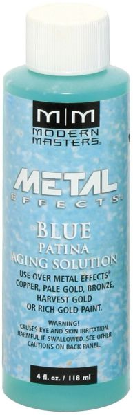 MODERN MASTERS BLUE PATINA AGING SOLUTION 4OZ PA90204