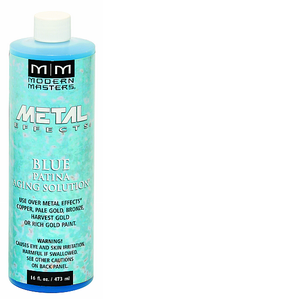 MODERN MASTERS BLUE PATINA AGING SOLUTION 16OZ PA90216
