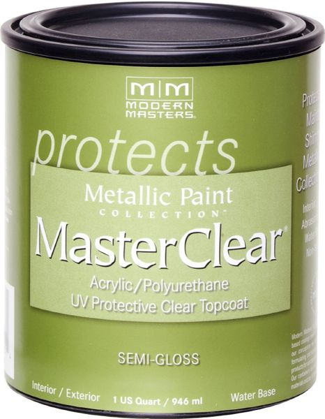 MODERN MASTERS MASTER CLEAR METALLIC TOPCOAT SEMI-GLOSS QT ME66232