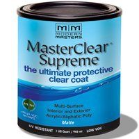 MODERN MASTERS MASTER CLEAR SUPREME URETHANE TOPCOAT INT/EXT MATTE QT MCS90132