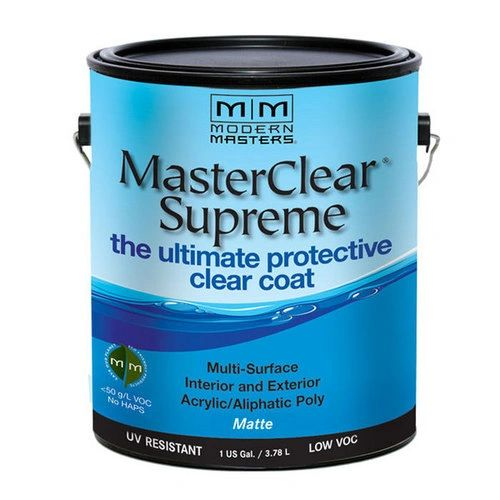 MODERN MASTERS MASTER CLEAR SUPREME URETHANE TOPCOAT INT/EXT MATTE GALLON MCS901GAL