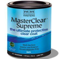 MODERN MASTERS MASTER CLEAR SUPREME URETHANE TOPCOAT INT/EXT SATIN QT MCS90232