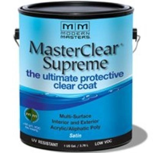 MODERN MASTERS MASTER CLEAR SUPREME URETHANE TOPCOAT INT/EXT SATIN GALLON MCS902GAL