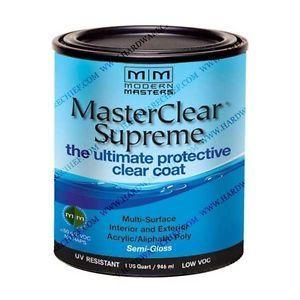 MODERN MASTERS MASTER CLEAR SUPREME URETHANE TOPCOAT INT/EXT SEMI-GLOSS QT MCS90332