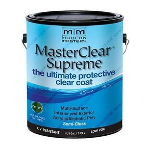 MODERN MASTERS MASTER CLEAR SUPREME URETHANE TOPCOAT INT/EXT SEMI-GLOSS GALLON MCS903GAL
