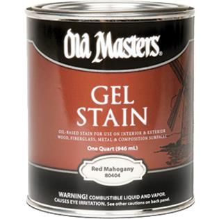 OLD MASTERS GEL STAIN QT RED MAHOGANY 80404