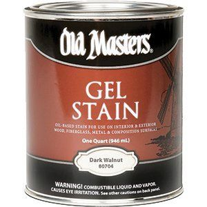 OLD MASTERS GEL STAIN QT DARK WALNUT 80704