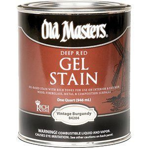 OLD MASTERS GEL STAIN QT DEEP RED VINTAGE BURGUNDY 84204